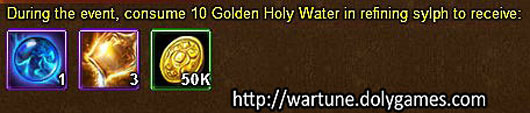 Holy Water refine unlimited - 19 November 2015