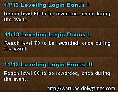 Leveling Login - Wartune Events 13 November 2015