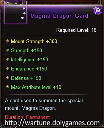 Magma Dragon Card item