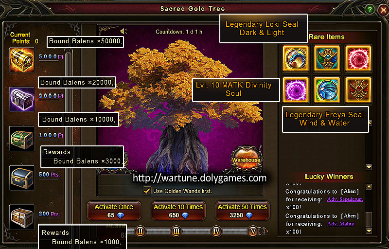 Sacred Gold Tree 13-15 Nov 2015