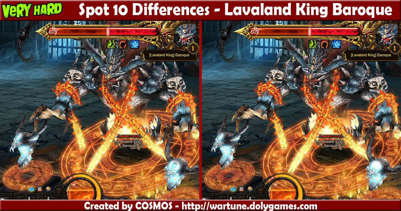 Spot 10 Differences - Lavaland King Baroque