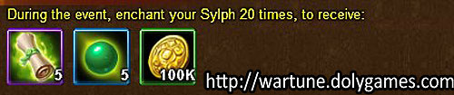 Sylph Enchant unlimited - Wartune Events 14 November 2015