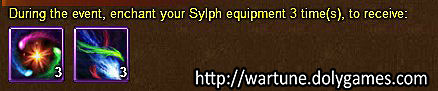 Sylph Equipment Enchant - Wartune Events 24 November 2015