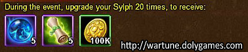 Sylph Upgrade unlimited - Wartune Events 12 November 2015