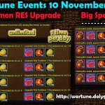 Wartune Events 10 November 2015
