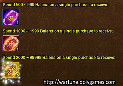 discount coupons - Wartune Events 8 November 2015