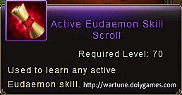 Active Eudaemon Skill Scroll item description Wartune