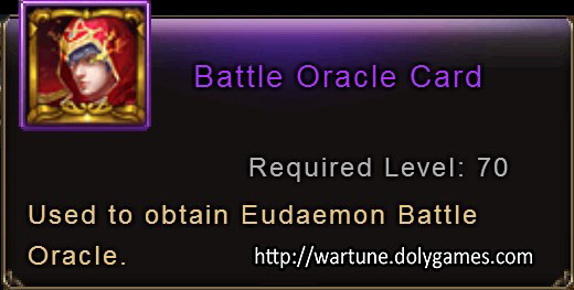 Battle Oracle Card item description Wartune