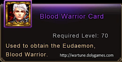 Blood Warrior Card item description Wartune
