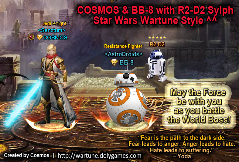 COSMOS & BB-8 with R2-D2 Sylph