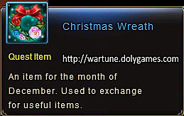 Christmas Wreath item description Wartune