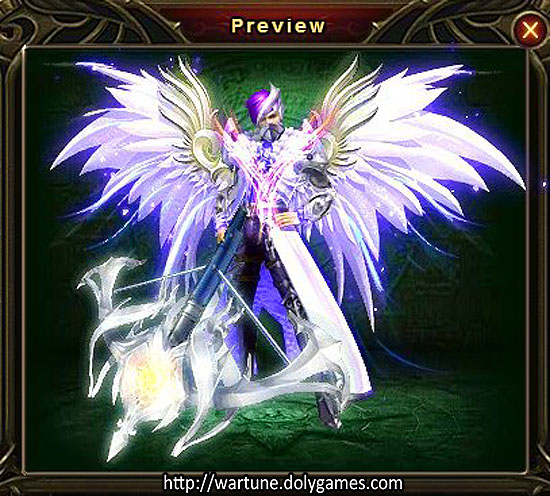 Dreamy Orchid clothing set preview DolyGames Wartune