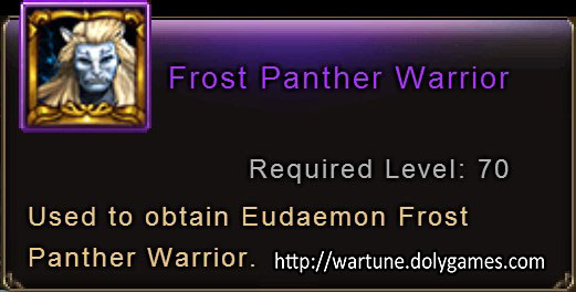 Frost Panther Warrior item description 2 Wartune