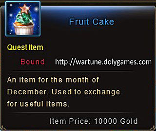 Fruit Cake item description Wartune