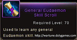 General Eudaemon Skill Scroll item description Wartune