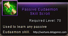Passive Eudaemon Skill Scroll item description Wartune