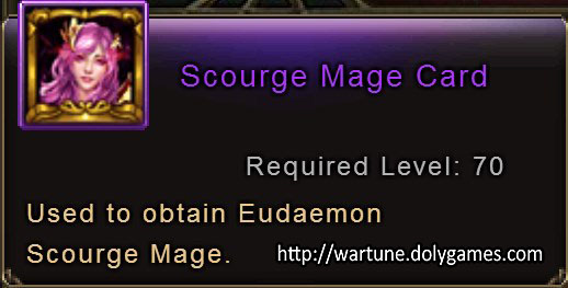 Scourge Mage Card item description Wartune