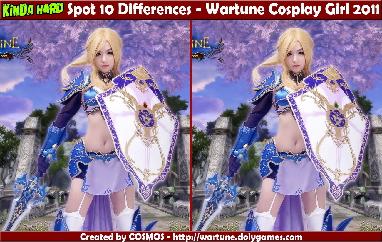Spot 10 Differences - Wartune Cosplay Girl 2011