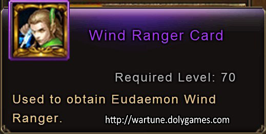 Wind Ranger Card item description Wartune
