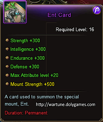 Ent mount (+300) item description Wartune