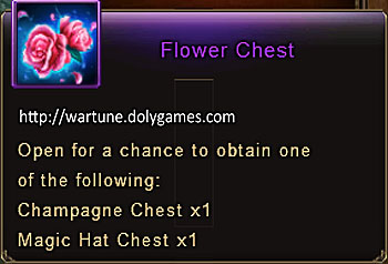 Flower Chest item description Wartune