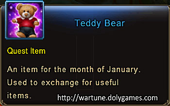 Teddy Bear item description Wartune
