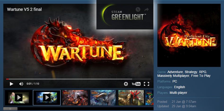 Wartune Steam Greenlight project voting