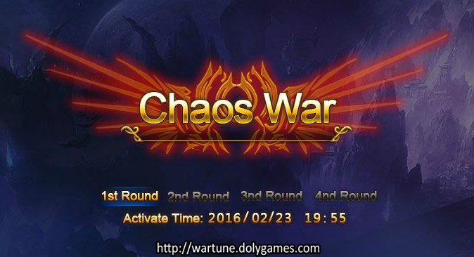 Chaos War 23 Feb 2016 - announcement