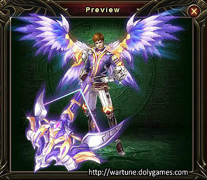 Lilac set (clothing and wings) Wartune