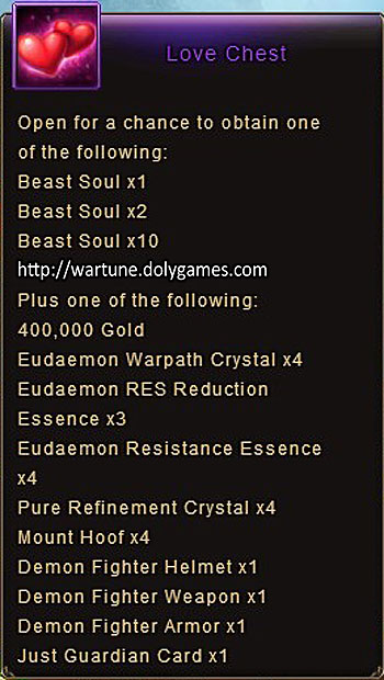 Love Chest item description Wartune
