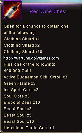 Red Wine Chest item description Wartune