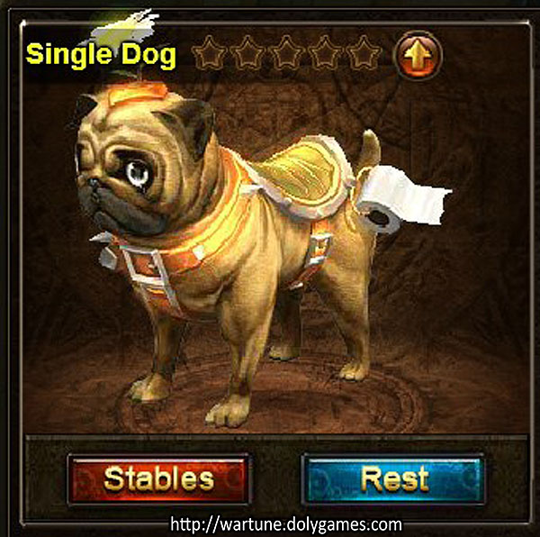 Single Dog mount preview Stables Wartune