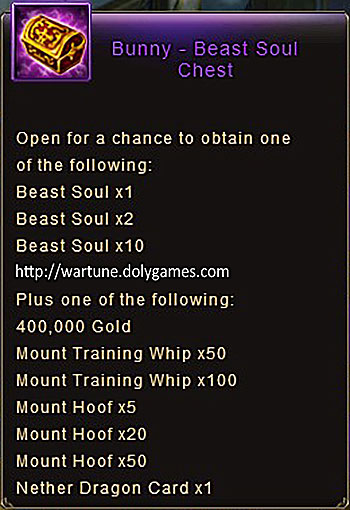 Bunny Beast Soul Chest item Wartune