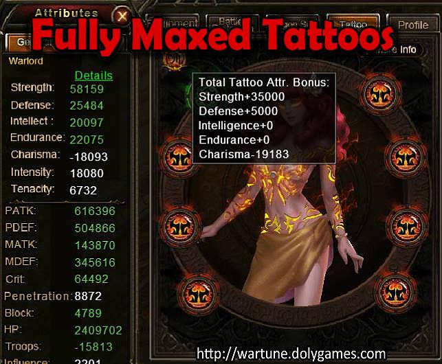 Fully Maxed Tattoos Wartune salt10
