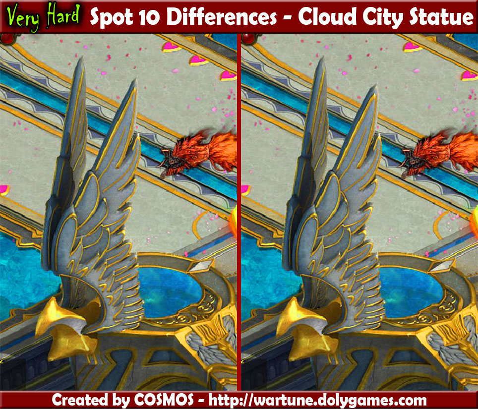 Spot 10 Differences - Cloud City Statue