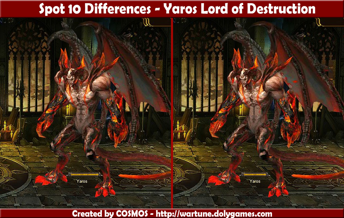 Spot 10 Differences - Yaros Lord of Destruction