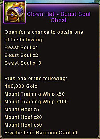 Clown Hat Beast Soul Chest item Wartune