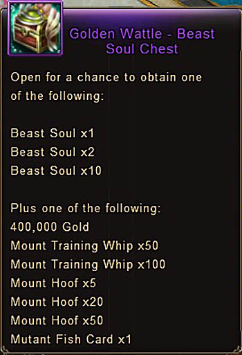 Golden Wattle Beast Soul Chest item Wartune