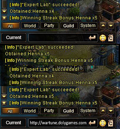 Henna Lab Winning Streak game chat log