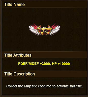 Majestic Aura clothing set title Wartune