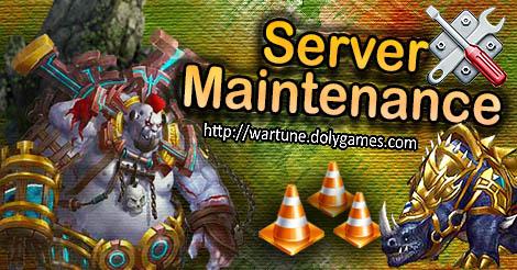 Server Maintenance DolyGames Wartune