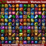 Spot 10 Differences - Random Wartune Icons 1
