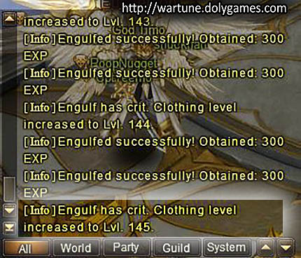 proof of crit engulf clothing Wartune Patch 5.6