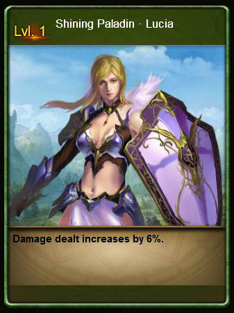 ABYS2 Shining Paladin Lucia Card Wartune large