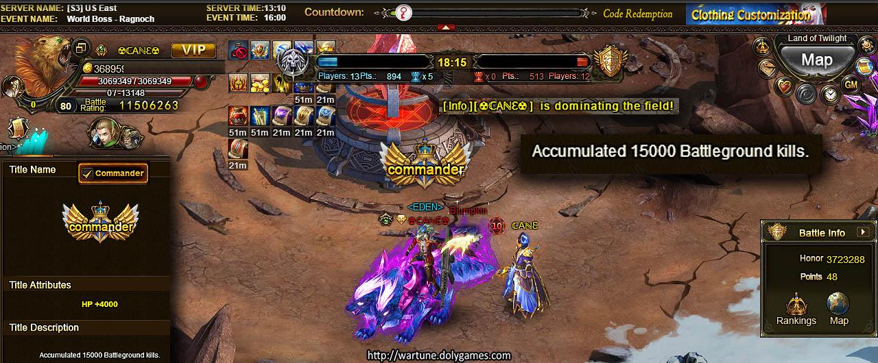 CANE 15k Battleground Kills Commander