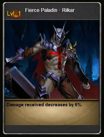 CEL1 Fierce Paladin Rilkar Card Wartune large