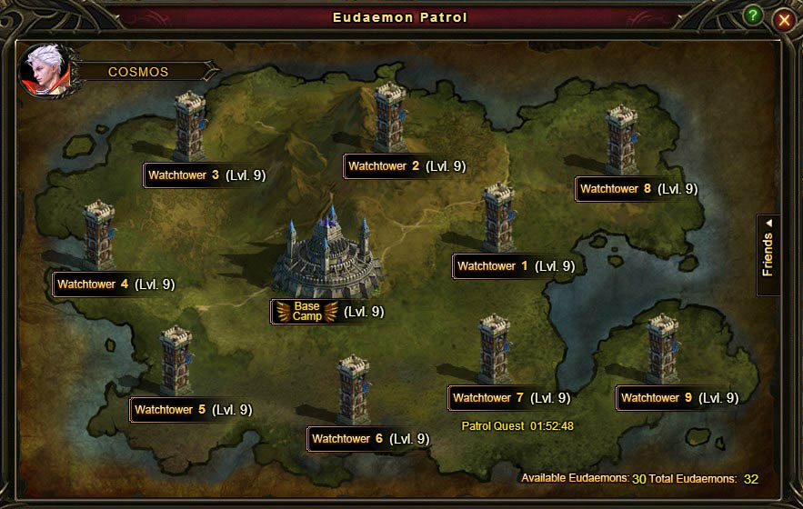 Eudaemon Patrol Level 9 Base Camp Watchtowers