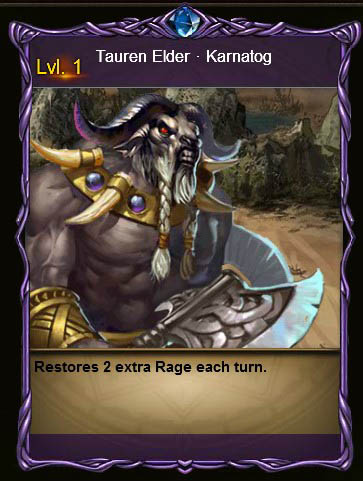 MPD Tauren Elder Karnatog Card Wartune large