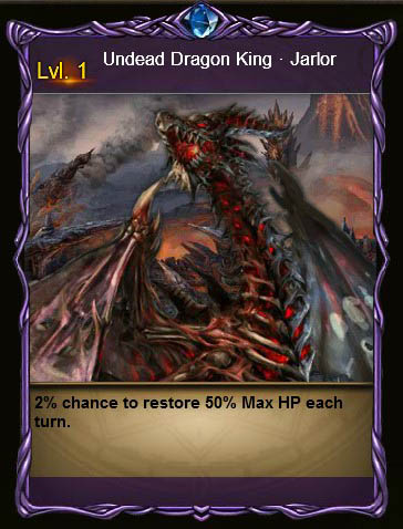 NECR Undead Dragon King Card Wartune large