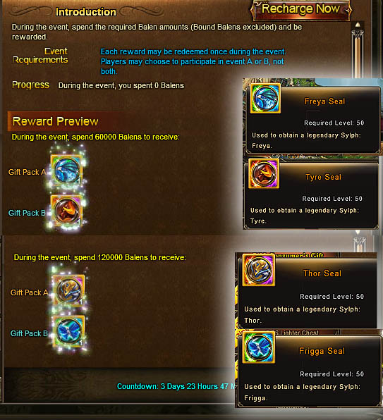 Wartune Events 31 May 2016 - Consumer's Gift Sylph